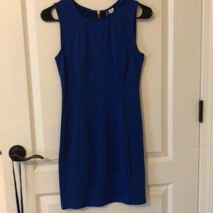 Blue Midi Dress with Snake Skin Texture